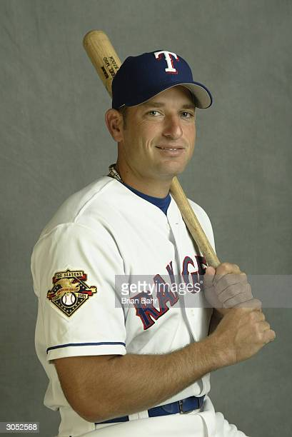 Catcher Jeff Smith of the Texas Rangers poses for a picture during Texas Rangers Media Day at Surprise Stadium on February 26 2004 in Surprise Arizona