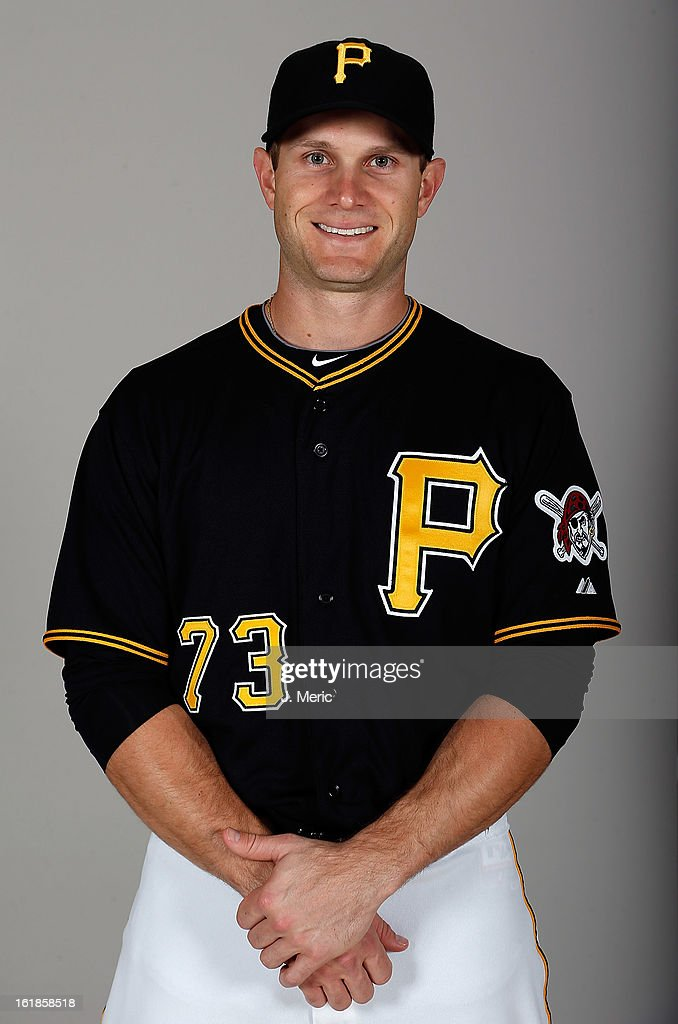 Catcher Lucas May #73 of the Pittsburgh Pirates poses for a photo during photo day at Pirate City on February 17, 2013 in Bradenton, Florida.