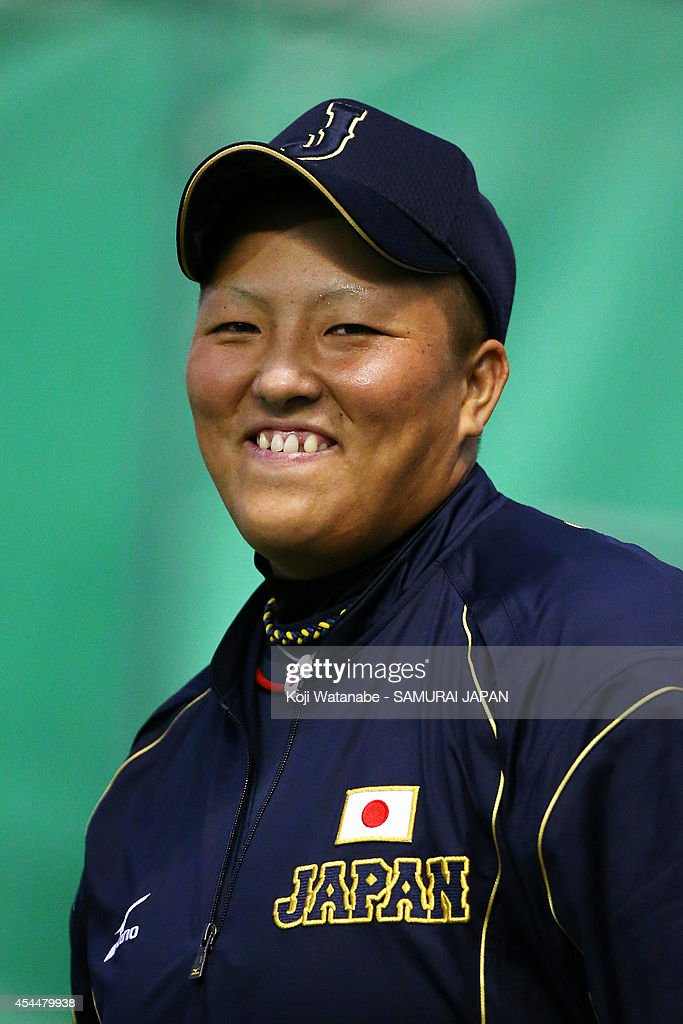 Catcher <a gi-track='captionPersonalityLinkClicked' href=/galleries/search?phrase=Tomomi+Nishi&family=editorial&specificpeople=13536816 ng-click='$event.stopPropagation()'>Tomomi Nishi</a> #2 of Japan looks on the IBAF Women's Baseball World Cup Group A game between Japan and Australia at Sun Marine Stadium on September 1, 2014 in Miyazaki, Japan.