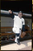 Catcher Yogi Berra of the New York Yankees poses for a portrait circa 1955 Berra played for the Yankees from 19461963