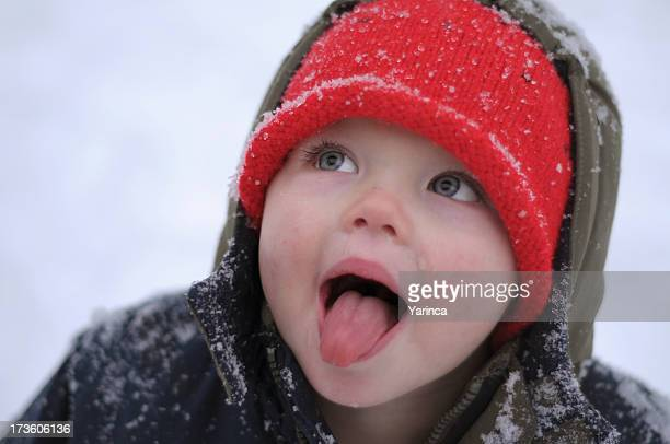 catching snow flakes