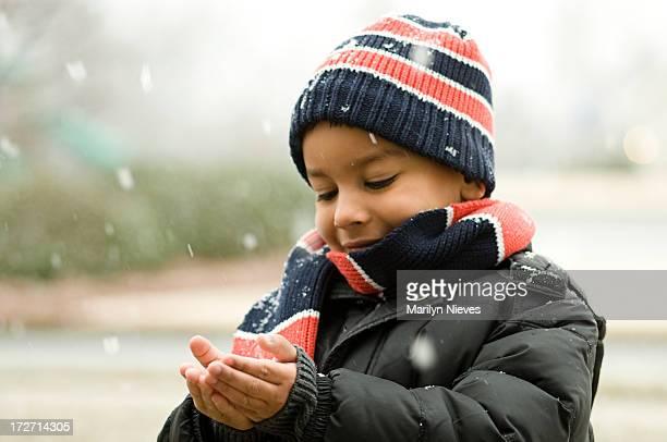 Fangen Schnee