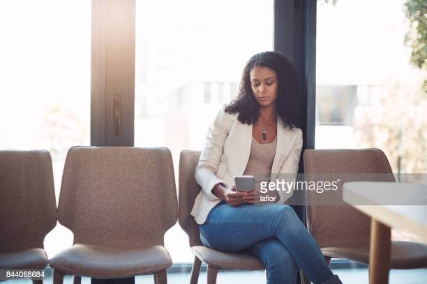 Catching up on social media while waiting to be seen
