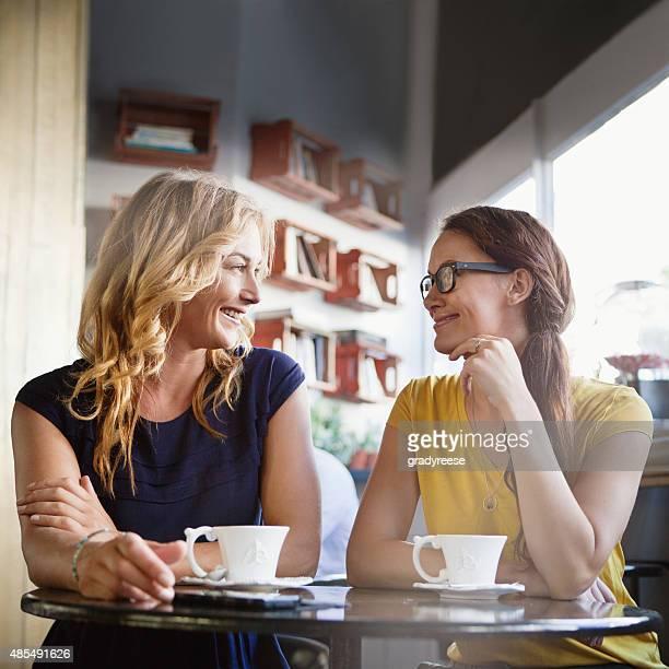 Gespräch über Kaffee