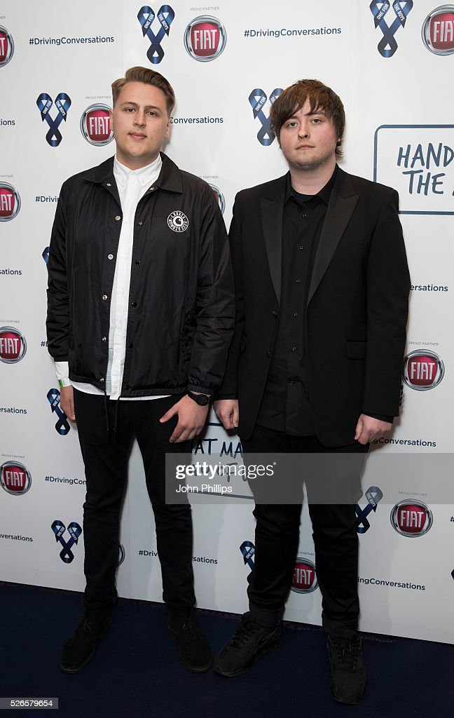 Catchment arrive at the One For The Boys Charity Event Masquerave sponsored by FIAT at the Troxy on April 30, 2016 in London, England.
