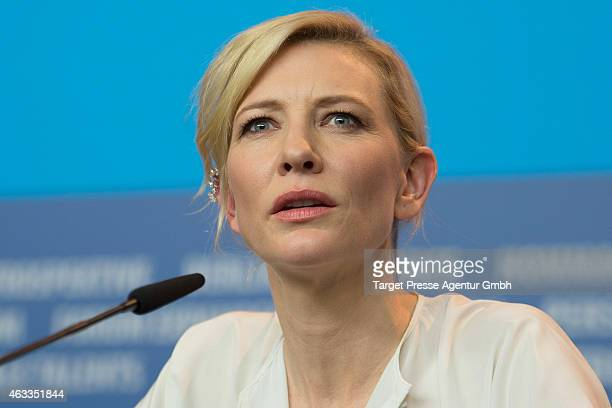 Cate Blachett attends the 'Cinderella' press conference during the 65th Berlinale International Film Festival at Grand Hyatt Hotel on February 13...