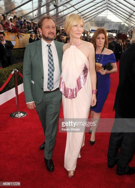 Cate Blanchett and Andrew Upton attend 20th Annual Screen Actors Guild Awards at The Shrine Auditorium on January 18 2014 in Los Angeles California