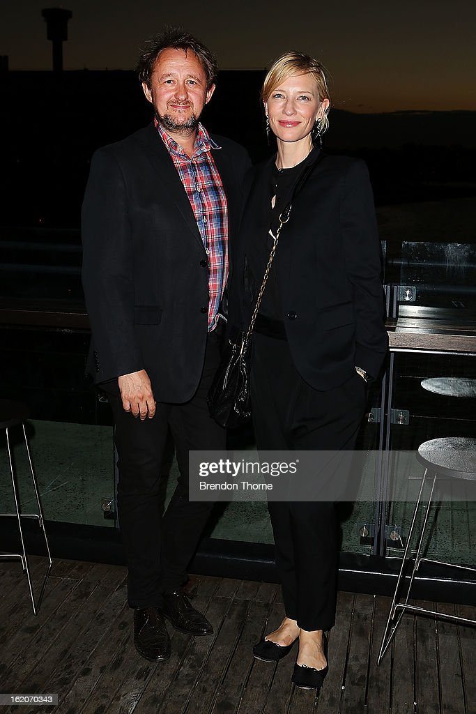 Cate Blanchett and Andrew Upton attend the opening night of Mrs Warren's Profession at Sydney Theatre Company on February 19, 2013 in Sydney, Australia.