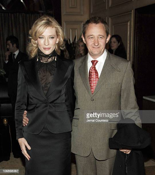 Cate Blanchett and Andrew Upton during Private Dinner in Honor of Cate Blanchett Celebrating the Sydney Theatre Company Production of 'Hedda Gabler'...