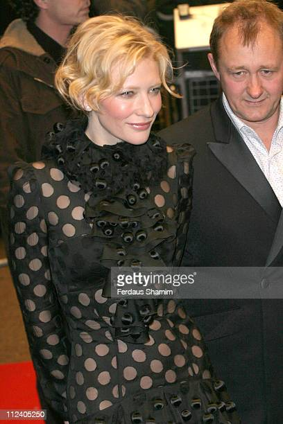 Cate Blanchett and Andrew Upton during 'The Aviator' London Film Premiere Arrivals at Odeon West End Leicester Square in London Great Britain