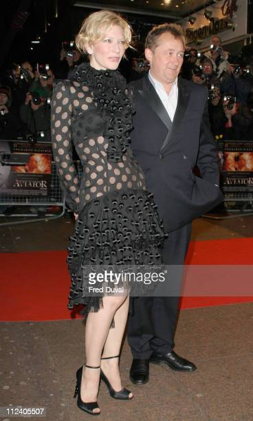 Cate Blanchett and Andrew Upton during 'The Aviator' London Premiere Arrivals at Odeon West End Leicester Square in London Great Britain