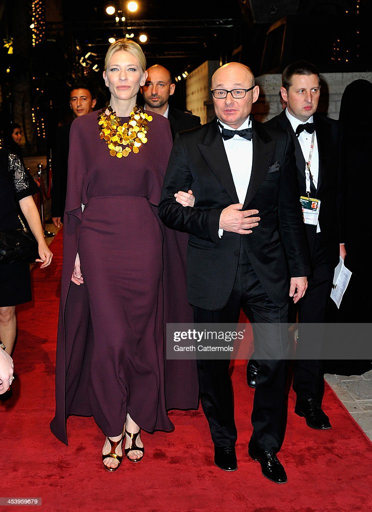 <a gi-track='captionPersonalityLinkClicked' href=/galleries/search?phrase=Cate+Blanchett&family=editorial&specificpeople=201621 ng-click='$event.stopPropagation()'>Cate Blanchett</a> and <a gi-track='captionPersonalityLinkClicked' href=/galleries/search?phrase=Georges+Kern&family=editorial&specificpeople=623163 ng-click='$event.stopPropagation()'>Georges Kern</a> attend the Opening Night Gala of the 10th Annual Dubai International Film Festival held at the Madinat Jumeriah Complex on December 6, 2013 in Dubai, United Arab Emirates.