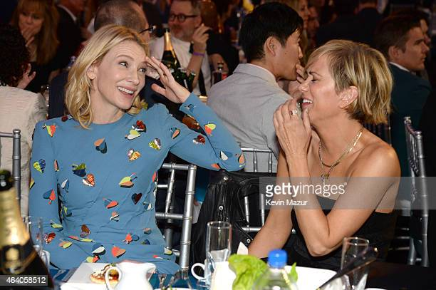 Cate Blanchett and Kristen Wiig attend the 2015 Film Independent Spirit Awards at Santa Monica Beach on February 21 2015 in Santa Monica California