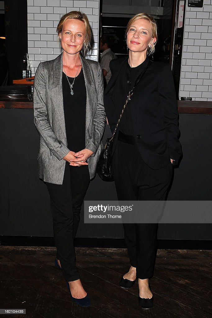 <a gi-track='captionPersonalityLinkClicked' href=/galleries/search?phrase=Cate+Blanchett&family=editorial&specificpeople=201621 ng-click='$event.stopPropagation()'>Cate Blanchett</a> and Marta Dusseldorp attend the opening night of Mrs Warren's Profession at Sydney Theatre Company on February 19, 2013 in Sydney, Australia.