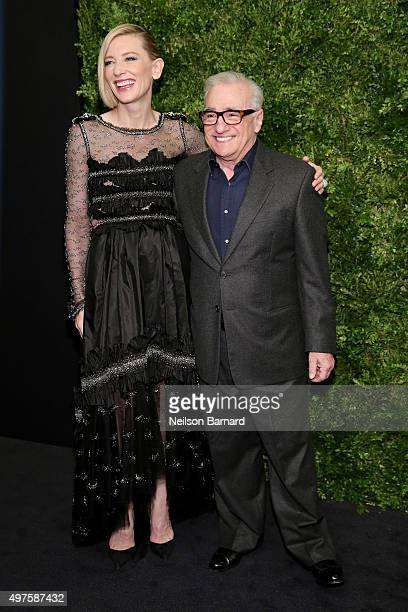 Cate Blanchett and Martin Scorsese attend the Museum of Modern Art's 8th Annual Film Benefit Honoring Cate Blanchett at the Museum of Modern Art on...