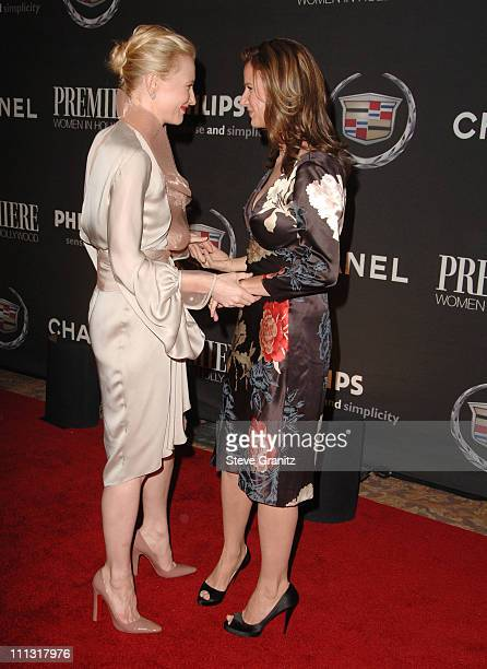 Cate Blanchett and Rachel Griffiths during 13th Annual Premiere Women in Hollywood Arrivals at Beverly Hills Hotel in Beverly Hills California United...