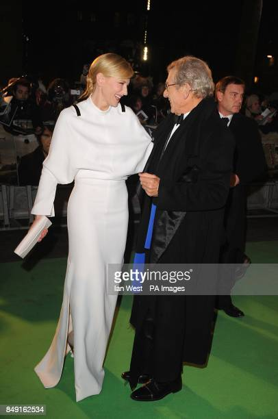 Cate Blanchett and SIr Ian McKellen arriving for the UK Premiere of The Hobbit An Unexpected Journey at the Odeon Leicester Square London