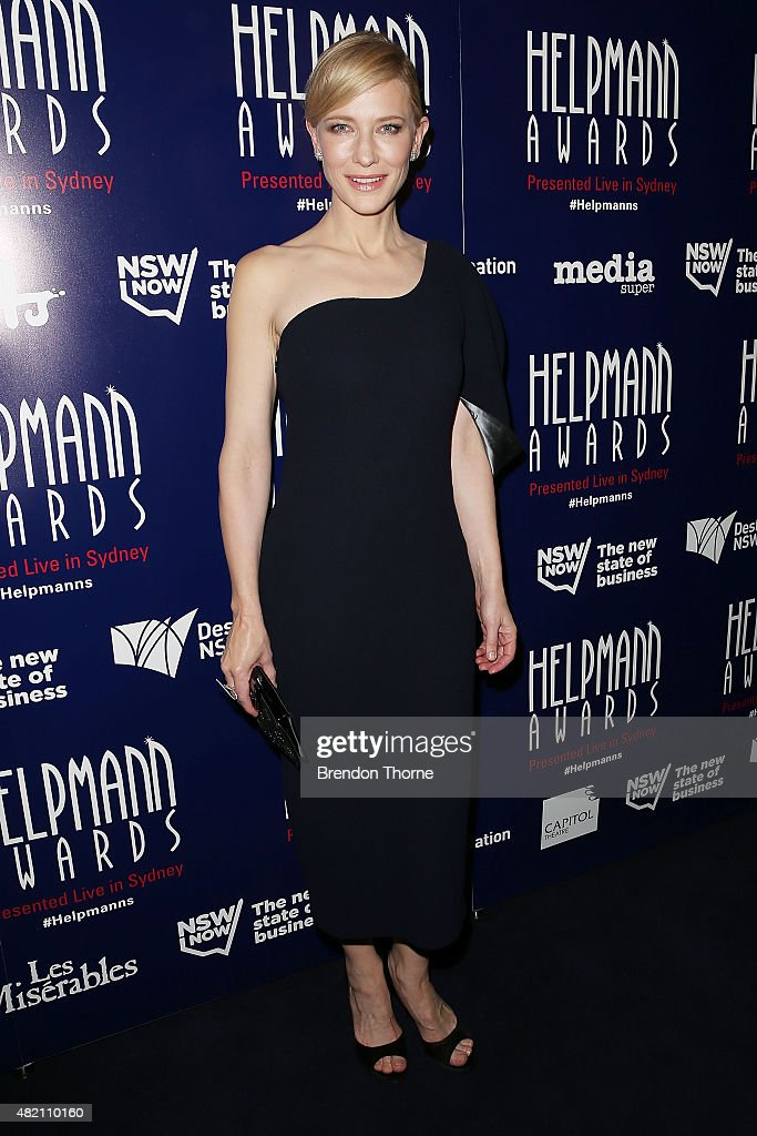 <a gi-track='captionPersonalityLinkClicked' href=/galleries/search?phrase=Cate+Blanchett&family=editorial&specificpeople=201621 ng-click='$event.stopPropagation()'>Cate Blanchett</a> arrives at the 2015 Helpmann Awards at the Capitol Theatre on July 27, 2015 in Sydney, Australia.