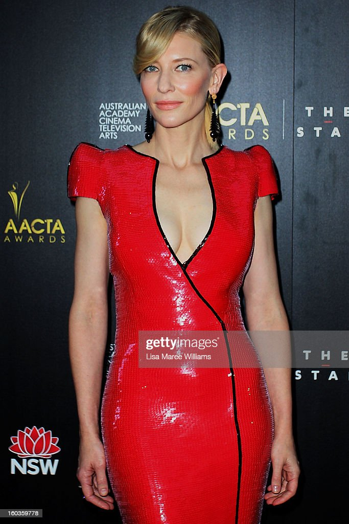 <a gi-track='captionPersonalityLinkClicked' href=/galleries/search?phrase=Cate+Blanchett&family=editorial&specificpeople=201621 ng-click='$event.stopPropagation()'>Cate Blanchett</a> arrives at the 2nd Annual AACTA Awards at The Star on January 30, 2013 in Sydney, Australia.