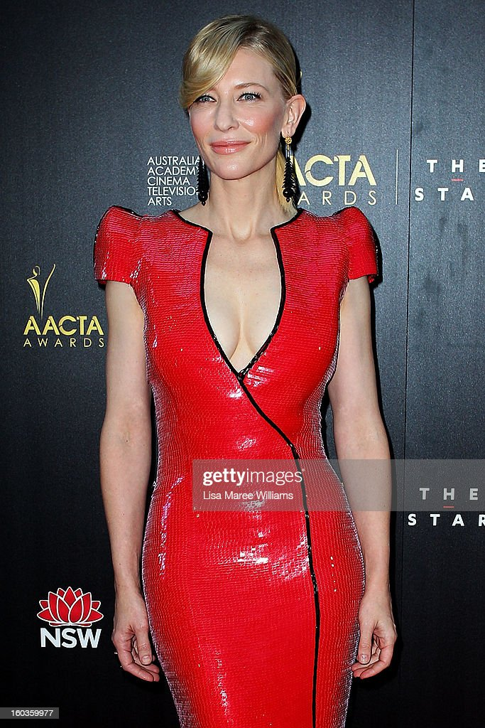 Cate Blanchett arrives at the 2nd Annual AACTA Awards at The Star on January 30, 2013 in Sydney, Australia.