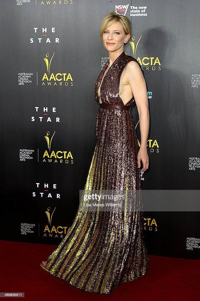 Cate Blanchett arrives at the 3rd Annual AACTA Awards Ceremony at The Star on January 30, 2014 in Sydney, Australia.
