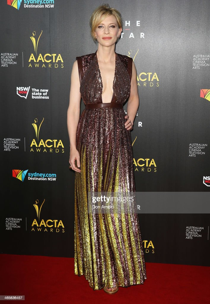 <a gi-track='captionPersonalityLinkClicked' href=/galleries/search?phrase=Cate+Blanchett&family=editorial&specificpeople=201621 ng-click='$event.stopPropagation()'>Cate Blanchett</a> arrives at the 3rd Annual AACTA Awards Ceremony at The Star on January 30, 2014 in Sydney, Australia.