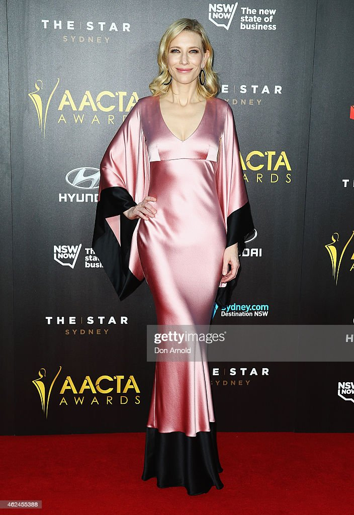 <a gi-track='captionPersonalityLinkClicked' href=/galleries/search?phrase=Cate+Blanchett&family=editorial&specificpeople=201621 ng-click='$event.stopPropagation()'>Cate Blanchett</a> arrives at the 4th AACTA Awards Ceremony at The Star on January 29, 2015 in Sydney, Australia.