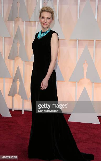 Cate Blanchett arrives at the 87th Annual Academy Awards at Hollywood Highland Center on February 22 2015 in Los Angeles California