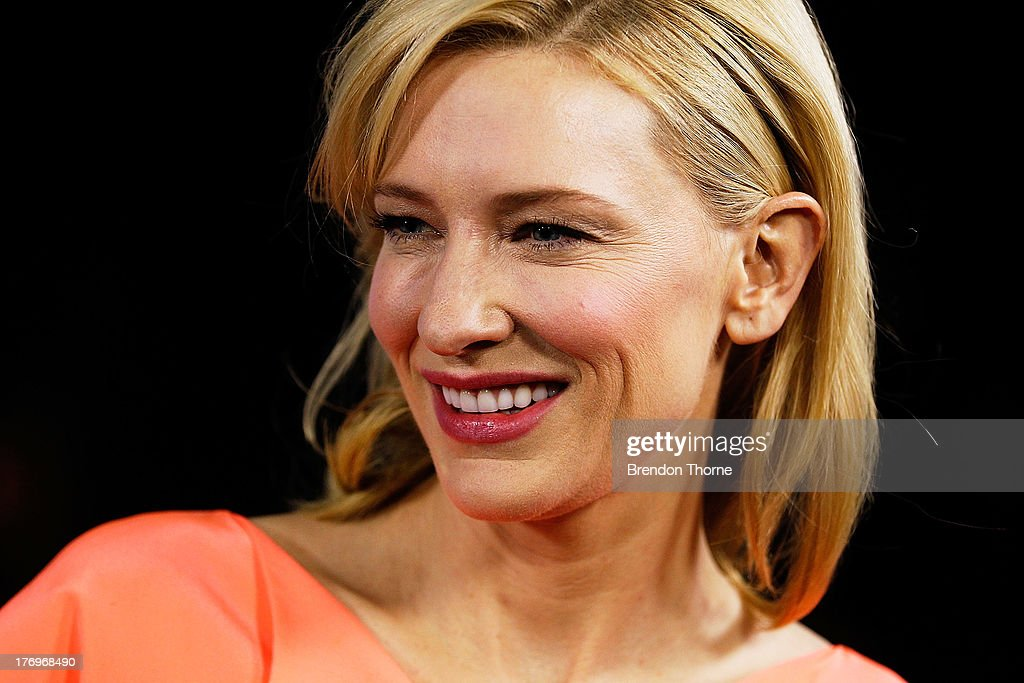<a gi-track='captionPersonalityLinkClicked' href=/galleries/search?phrase=Cate+Blanchett&family=editorial&specificpeople=201621 ng-click='$event.stopPropagation()'>Cate Blanchett</a> arrives at the 'Blue Jasmine' Australian premiere at the Hayden Cremorne Orpheum on August 20, 2013 in Sydney, Australia.
