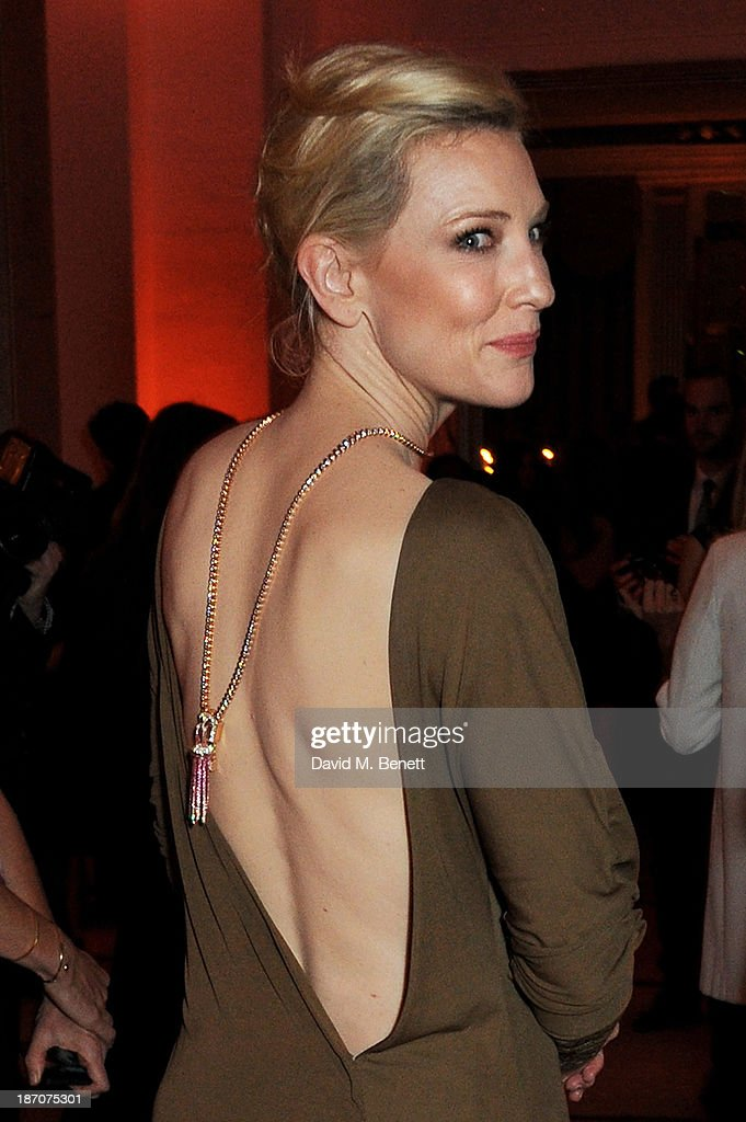 Cate Blanchett arrives at the Harper's Bazaar Women of the Year awards at Claridge's Hotel on November 5, 2013 in London, England.