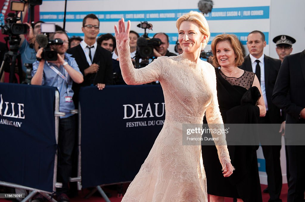 <a gi-track='captionPersonalityLinkClicked' href=/galleries/search?phrase=Cate+Blanchett&family=editorial&specificpeople=201621 ng-click='$event.stopPropagation()'>Cate Blanchett</a> arrives at the opening ceremony of the 39th Deauville American Festival on August 30, 2013 in Deauville, France.