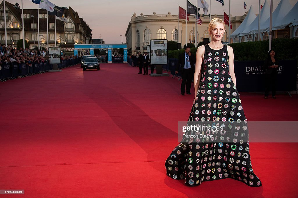 <a gi-track='captionPersonalityLinkClicked' href=/galleries/search?phrase=Cate+Blanchett&family=editorial&specificpeople=201621 ng-click='$event.stopPropagation()'>Cate Blanchett</a> arrives at the premiere of the movie 'Blue Jasmine' during the 39th Deauville American film festival on August 31, 2013 in Deauville, France.