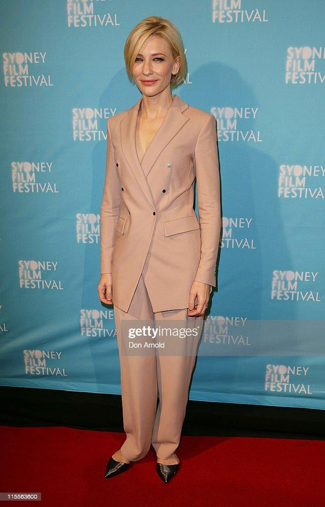 Cate Blanchett arrives at the Sydney Film Festival opening night screening of 'Hanna' on June 8 2011 in Sydney Australia