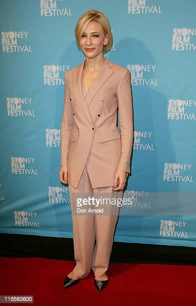 Cate Blanchett arrives at the Sydney Film Festival opening night screening of 'Hanna' on June 8 2011 in Sydney Australia