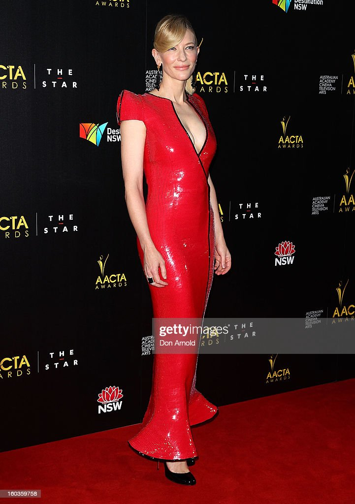 Cate Blanchett arrives for the 2nd Annual AACTA Awards at The Star on January 30, 2013 in Sydney, Australia.