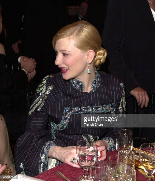 Cate Blanchett at the Golden Globe Awards at the Beverly Hilton January 20 2002 in Beverly Hills California