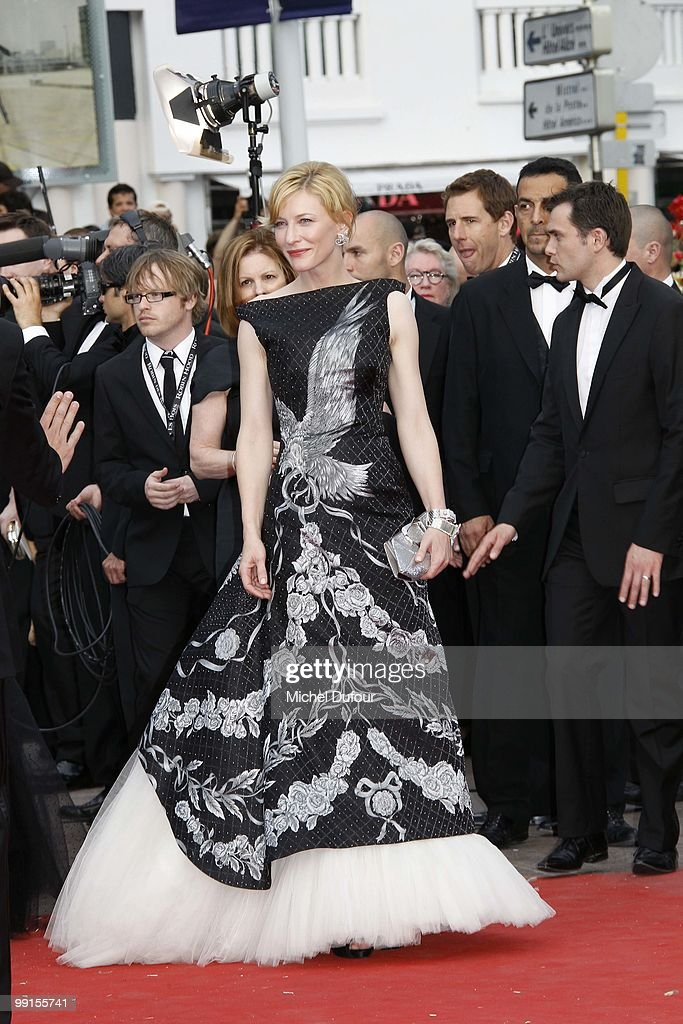 Cate Blanchett attend the 'Robin Hood' Premiere at the Palais des Festivals during the 63rd Annual Cannes Film Festival on May 12, 2010 in Cannes, France.