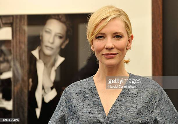 "Cate Blanchett attended the official opening of the ""Timeless Portofino"" exhibition with photographs by Peter Lindbergh of brand ambassadors wearing..."