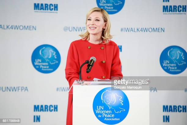 Cate Blanchett attended The United Nations Women for Peace Association's Annual Awards Luncheon on March 10 2017 in New York City