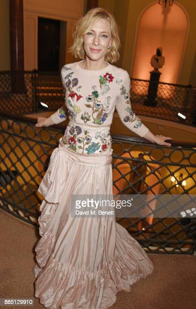 Cate Blanchett attends a drinks reception ahead of the London Evening Standard Theatre Awards 2017 at the Theatre Royal Drury Lane on December 3 2017...