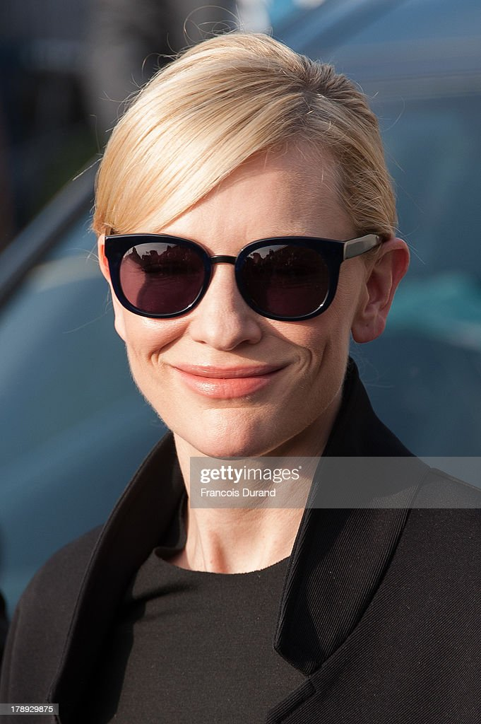 <a gi-track='captionPersonalityLinkClicked' href=/galleries/search?phrase=Cate+Blanchett&family=editorial&specificpeople=201621 ng-click='$event.stopPropagation()'>Cate Blanchett</a> attends a photocall next to the beach closet dedicated to her on the Promenade des Planches during the 39th Deauville American Film Festival on August 31, 2013 in Deauville, France.