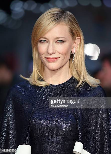 Cate Blanchett attends a screening of 'Carol' during the BFI London Film Festival at Odeon Leicester Square on October 14 2015 in London England
