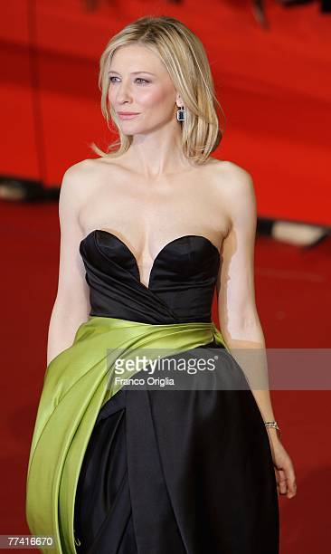 Cate Blanchett attends 'ElizabethThe Golden Age' Premiere on day 2 of the 2nd Rome Film Festival on October 19 2007 in Rome Italy