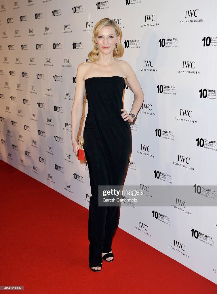 <a gi-track='captionPersonalityLinkClicked' href=/galleries/search?phrase=Cate+Blanchett&family=editorial&specificpeople=201621 ng-click='$event.stopPropagation()'>Cate Blanchett</a> attends 'For The Love of Cinema - IWC Filmmakers Award' during day two of the 10th Annual Dubai International Film Festival held at the One and Only Mirage Hotel on December 7, 2013 in Dubai, United Arab Emirates.