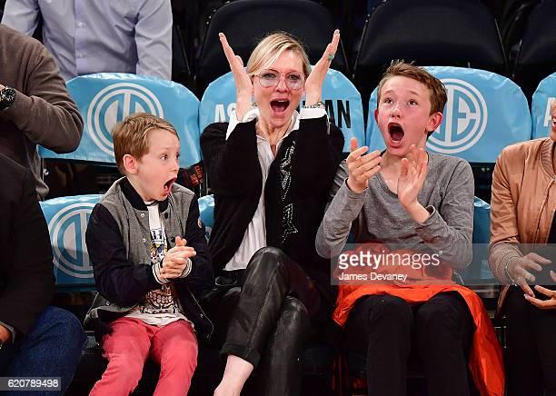 Cate Blanchett attends New York Knicks vs Houston Rockets game at Madison Square Garden on November 2 2016 in New York City