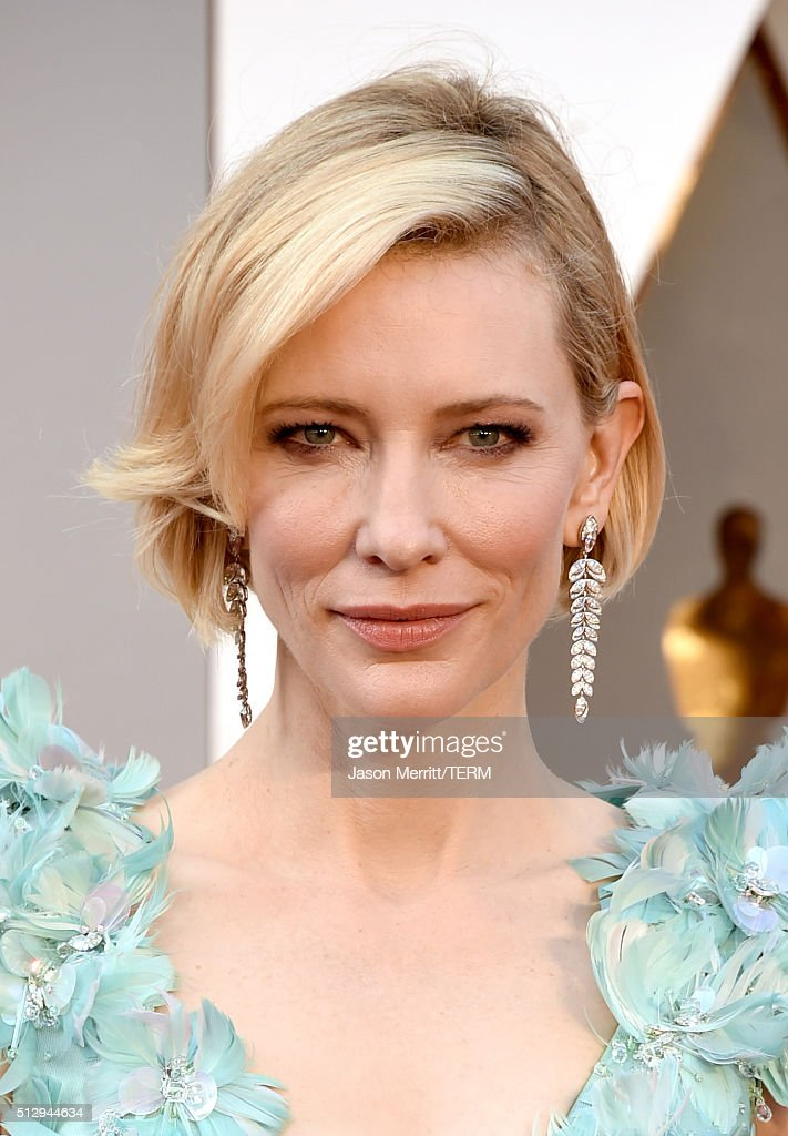 Cate Blanchett attends the 88th Annual Academy Awards at Hollywood Highland Center on February 28 2016 in Hollywood California