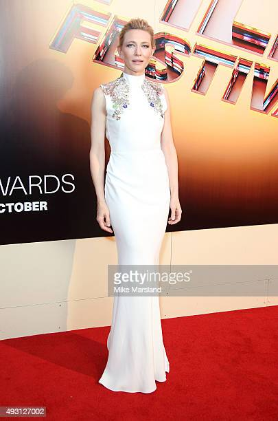 Cate Blanchett attends the BFI London Film Festival Awards at Banqueting House on October 17 2015 in London England