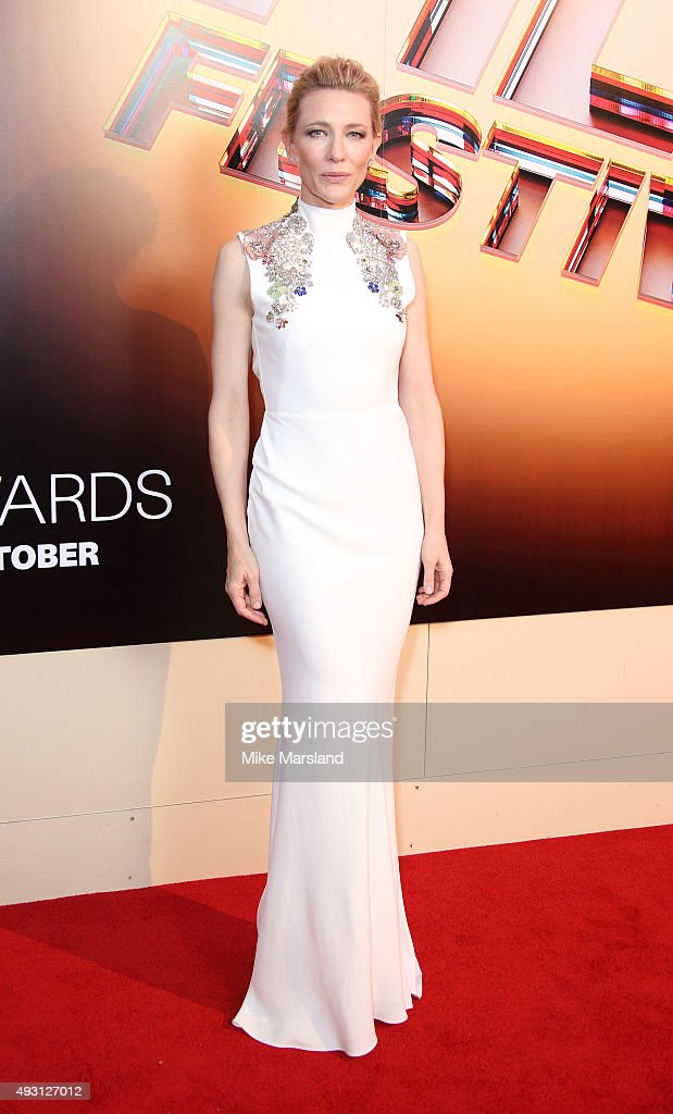 Cate Blanchett attends the BFI London Film Festival Awards at Banqueting House on October 17, 2015 in London, England.