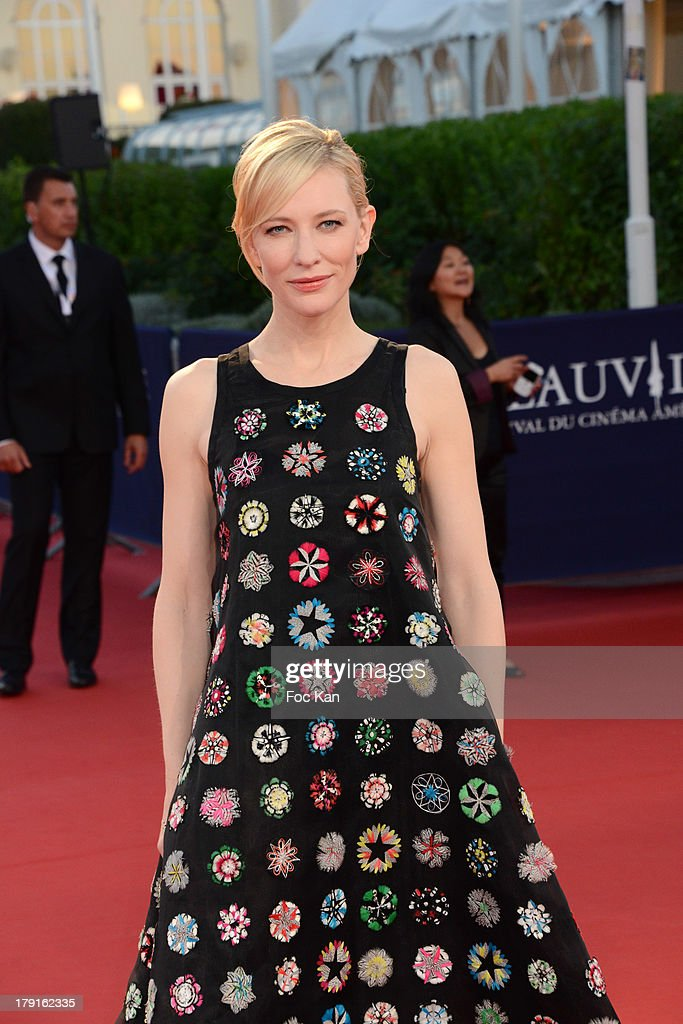 <a gi-track='captionPersonalityLinkClicked' href=/galleries/search?phrase=Cate+Blanchett&family=editorial&specificpeople=201621 ng-click='$event.stopPropagation()'>Cate Blanchett</a> attends the 'Blue Jasmine' Premiere at the 39th Deauville Film Festival at the CID on August 31, 2013 in Deauville, France.