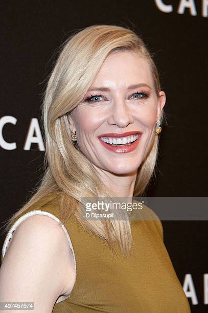 Cate Blanchett attends the 'Carol' New York premiere at the Museum of Modern Art on November 16 2015 in New York City